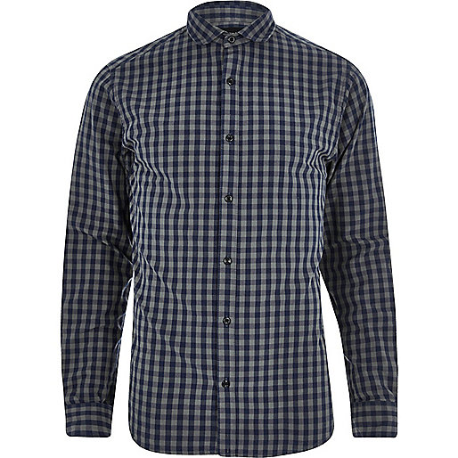Grey check Only & Sons slim fit shirt