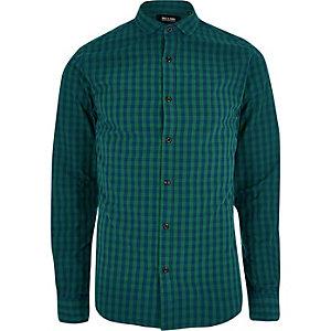 Only & Sons marineblauw geruit overhemd