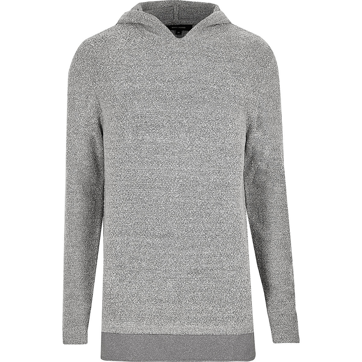 Light grey layered hoodie