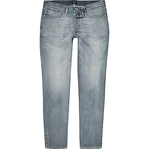 Chalky blue Sid skinny jeans