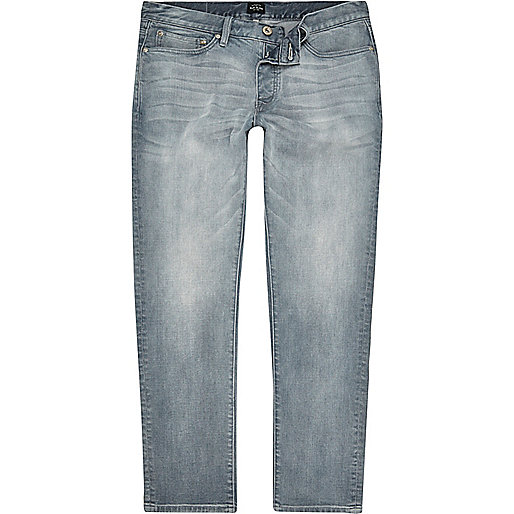 Mid chalky blue Dylan slim fit jeans