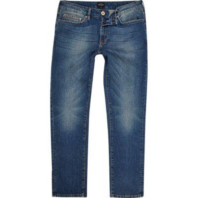 Dylan slim-fit jeans met blauwe wassing