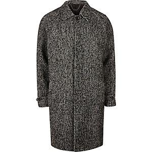 Manteau oversize à chevrons gris
