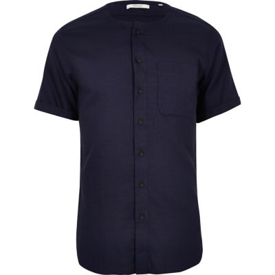 Jack and Jones indigo premium overhemd