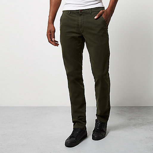 Khaki Franklin & Marshall skinny trousers