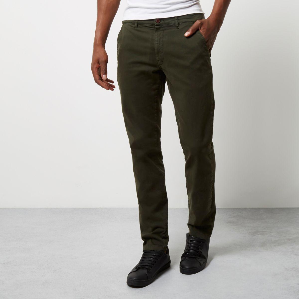 Khaki Franklin & Marshall skinny trousers