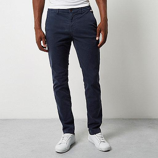 Pantalon skinny Franklin & Marshall bleu
