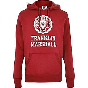 Red Franklin & Marshall print hoodie