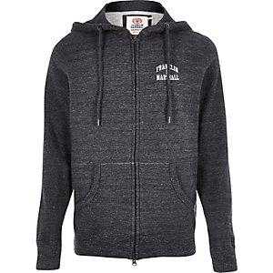 Grey fleece Franklin & Marshall zip up hoodie