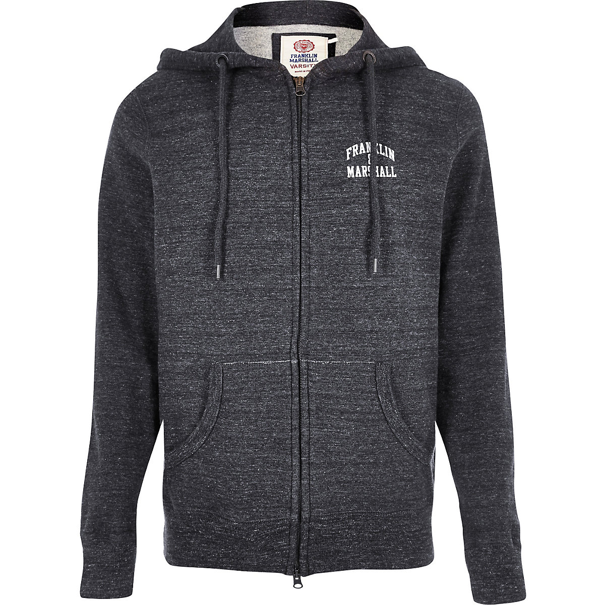 Grey fleece Franklin & Marshall zip up hoodie