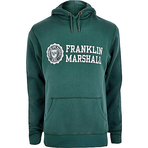 Sweat à capuche Franklin & Marshall imprimé vert
