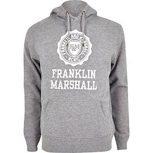 Franklin & Marshall grijze hoodie met print