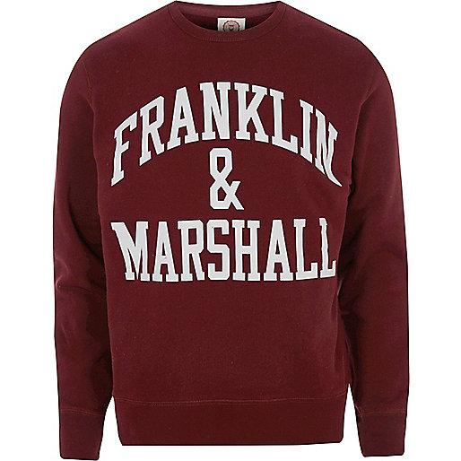 Burgundy Franklin & Marshall sweatshirt