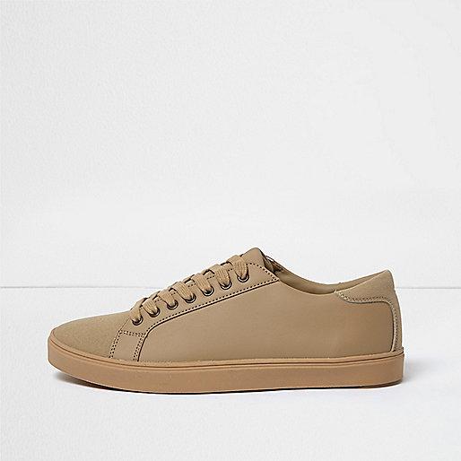 Camel tonal sneakers