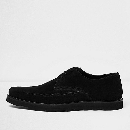 Black suede creepers