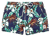 Blue Franklin & Marshall floral swim trunks
