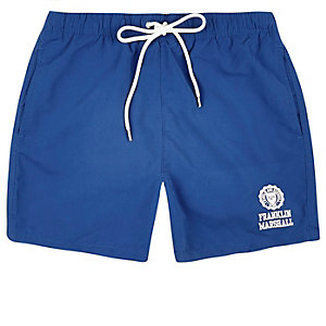 Blue Franklin & Marshall print swim trunks