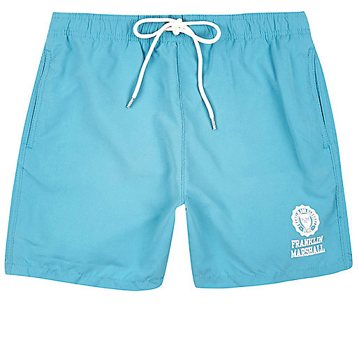 Light blue Franklin & Marshall swim trunks