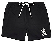 Black Franklin & Marshall print swim shorts