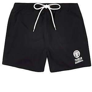 Black Franklin & Marshall print swim trunks
