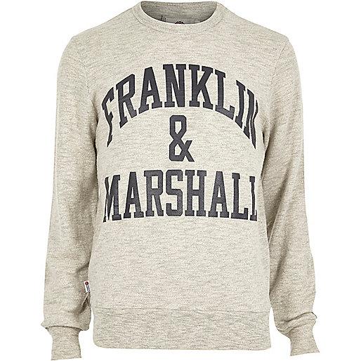 Grey marl Franklin & Marshall sweatshirt