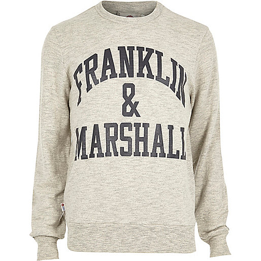Sweat Franklin & Marshall gris chiné