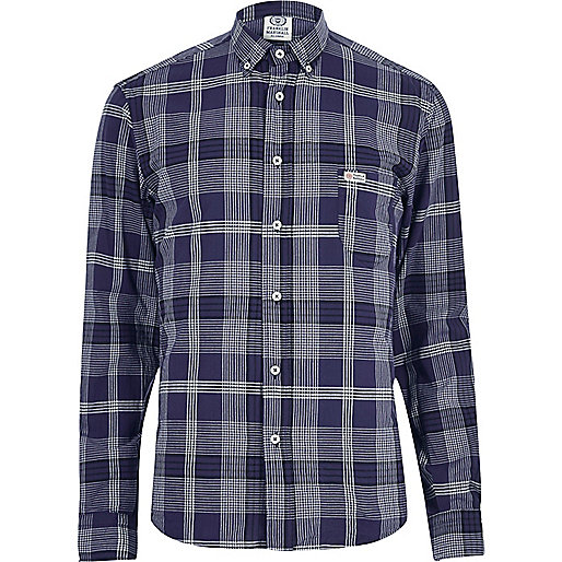 Blue Franklin & Marshall check shirt