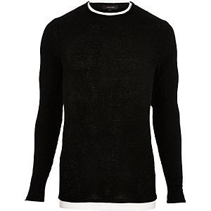 Black double layer tunic