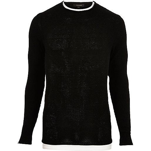 Zwarte tuniek met twee lagen