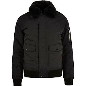 Black Schott flight jacket