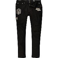 Sid - Zwarte skinny jeans met badge