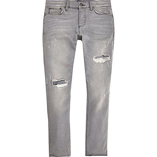 Grey ripped Sid skinny jeans - jeans - sale - men