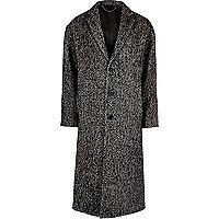 Eleganter Mantel mit Fischgrätmuster aus Wollmix