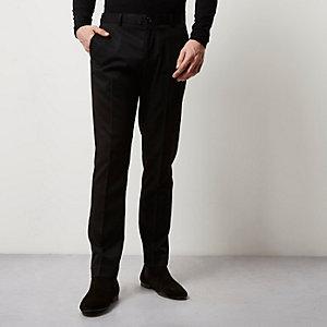 Black slim fit smart pants