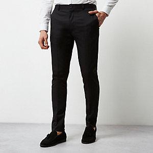 Zwarte nette skinny fit broek