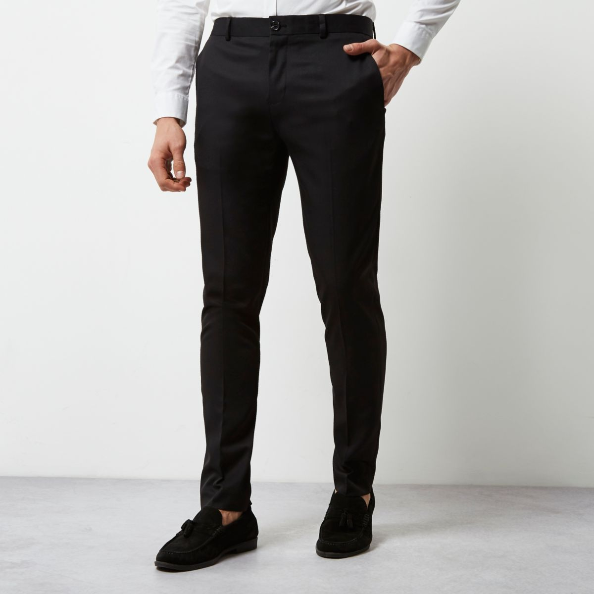 Black smart skinny fit pants