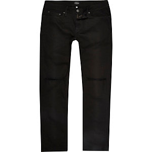 Black wash ripped Dylan slim fit jeans