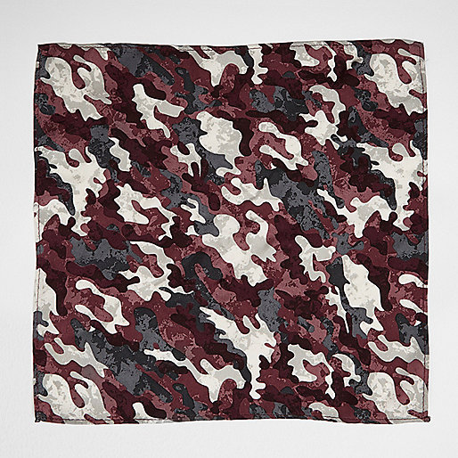 Purple camo pocket square