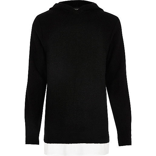 Black layered hoodie