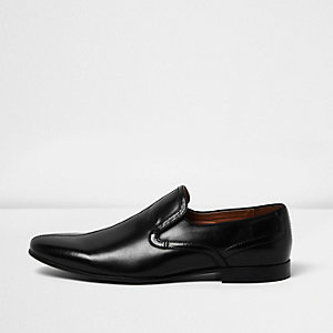 Black smart loafers