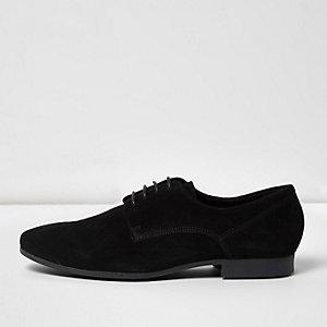 Zwarte nette suède derby schoenen