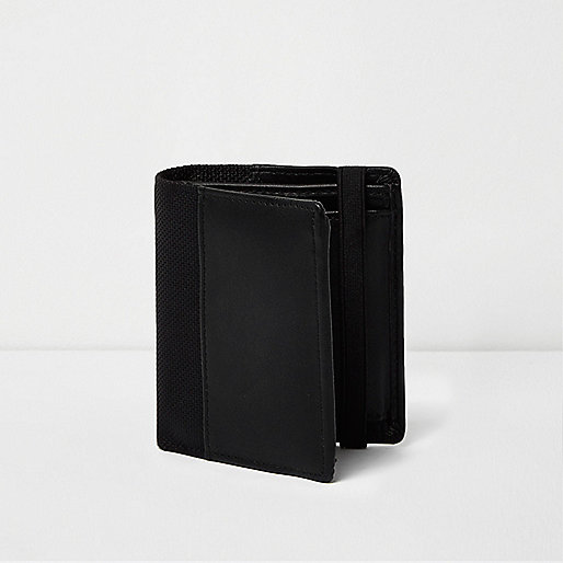 Black elastic fold out wallet