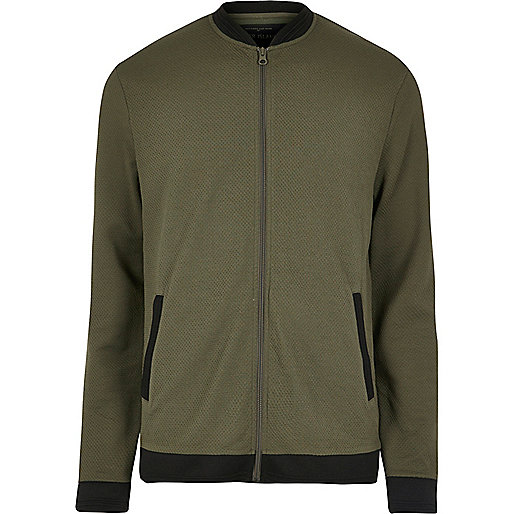 Green mesh bomber jacket