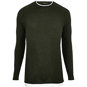 Dark green double layer tunic