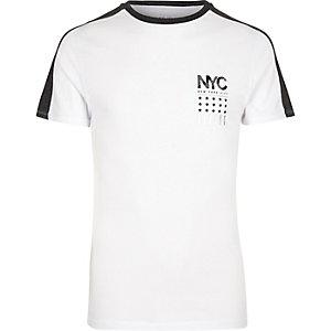 """Weißes T-Shirt mit """"NYC""""-Print"""