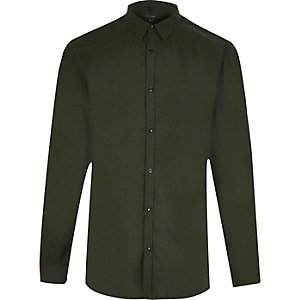 Green smart slim fit tonic shirt