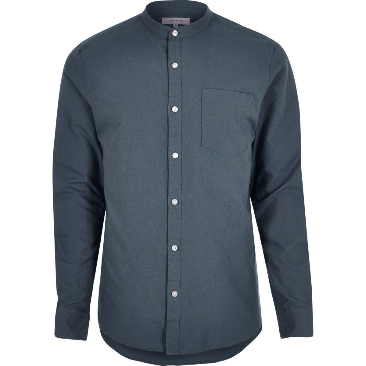 Light blue smart grandad shirt