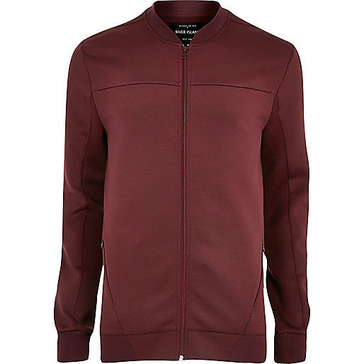 Burgundy soft bomber jacket