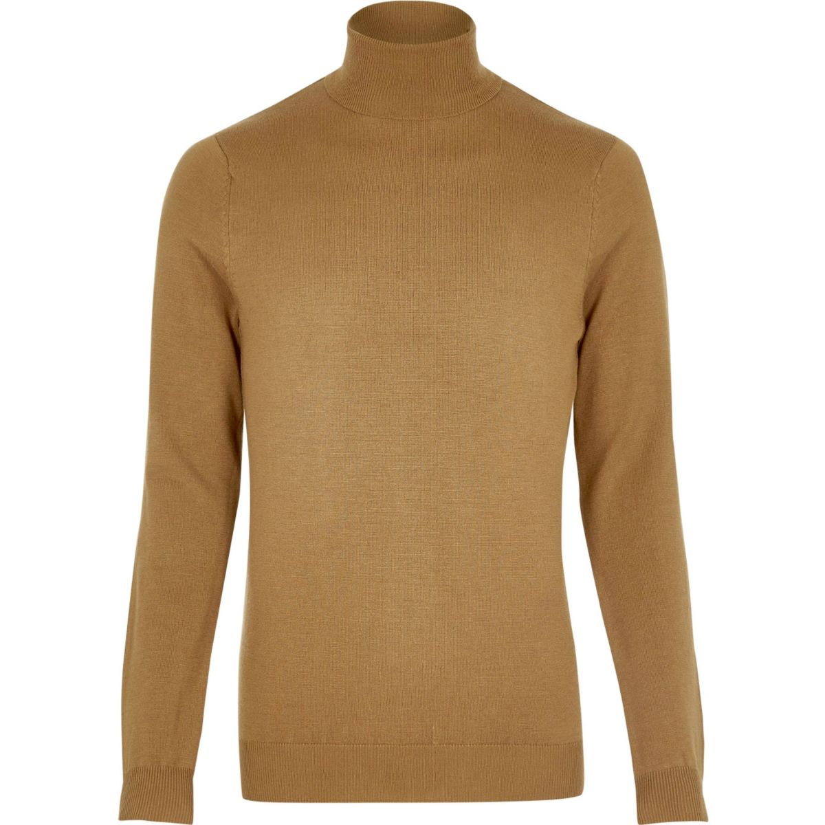 Brown roll neck sweater