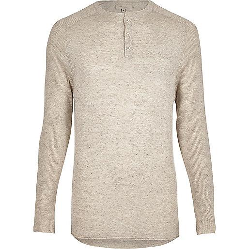 Ecru grandad style sweater